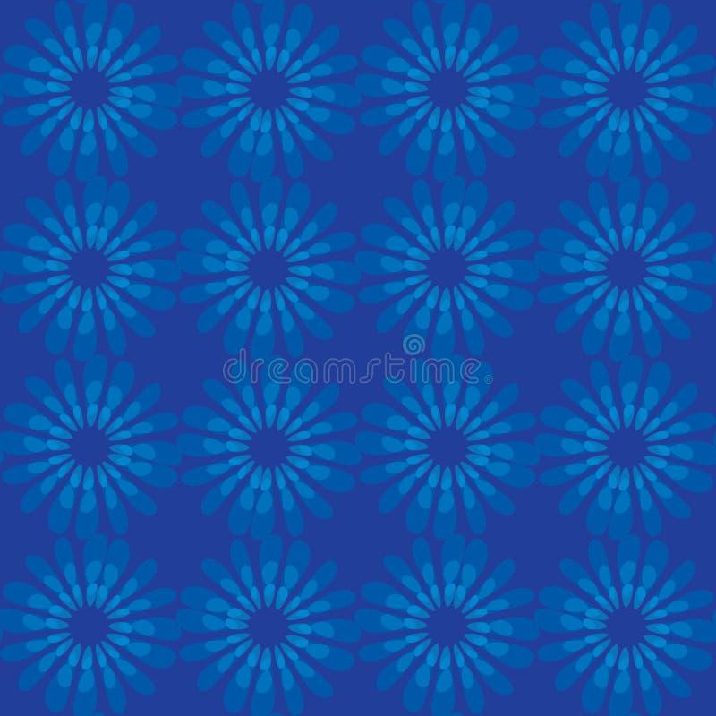 Het vector bloemenpatroon van de waterverftextuur met bloemen Waterverf bloemenpatroon Blauw bloemenpatroon vector illustratie