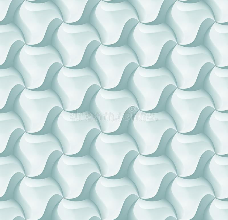Het vector 3d hexagon patroon van de tegelbaksteen voor decoratie en ontwerptegel royalty-vrije illustratie
