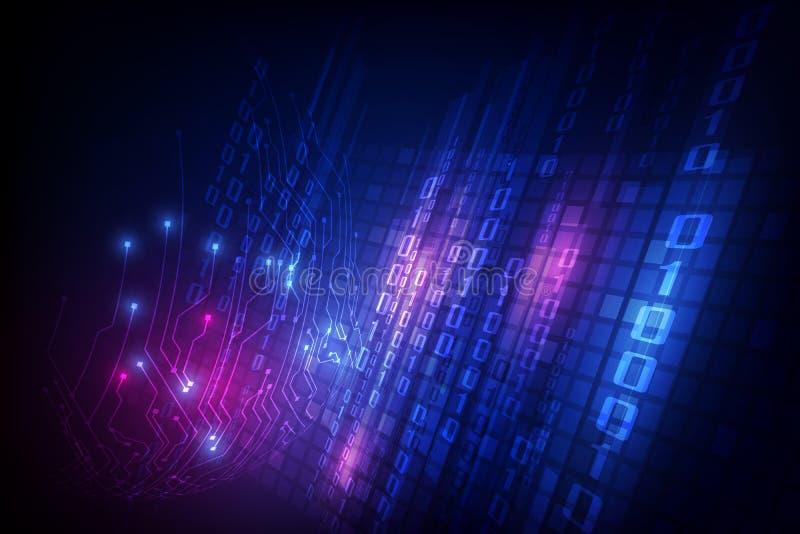Het vector digitale globale concept van de voorzien van een netwerk blockchain technologie, abstracte illustratie als achtergrond vector illustratie