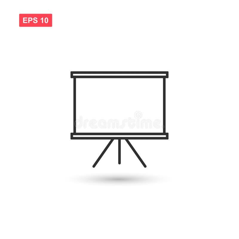 Het vector geïsoleerde ontwerp van het Whiteboardpictogram royalty-vrije illustratie