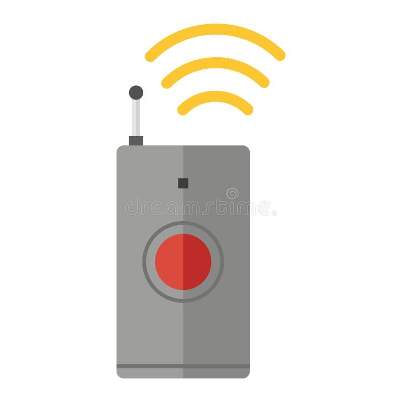 Het vector geïsoleerde pictogram van het afstandsbedieningapparaat royalty-vrije illustratie