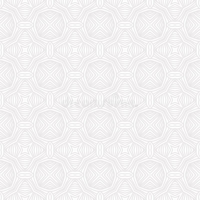 Het vector geometrische witte patroon van Seanless royalty-vrije illustratie