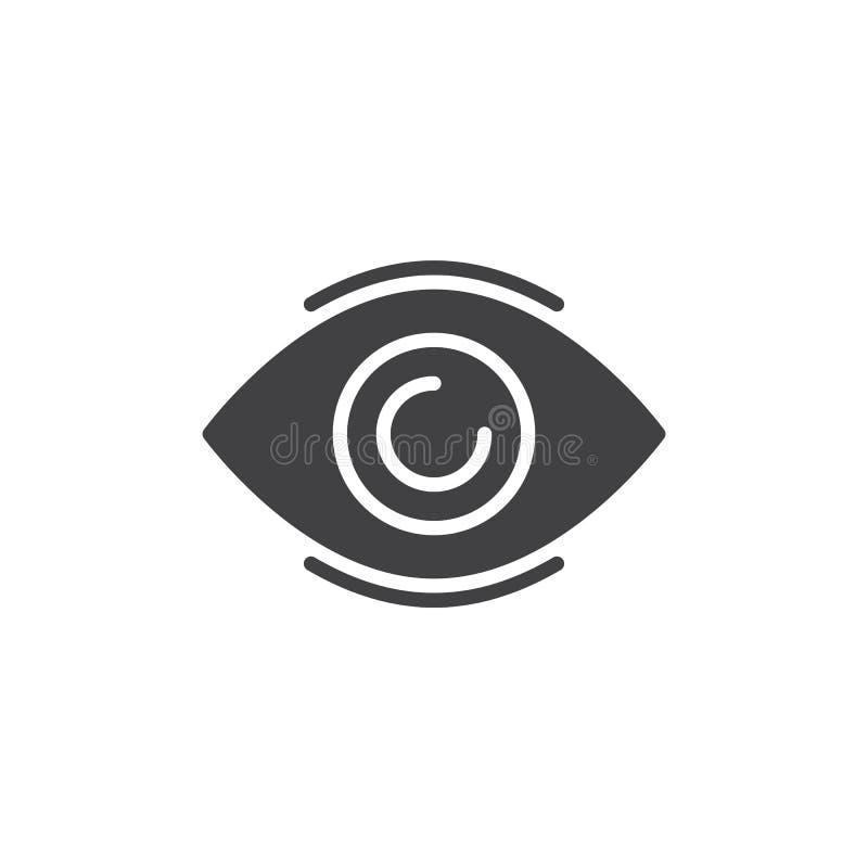 Het vector, gevulde vlakke teken van het oogpictogram vector illustratie
