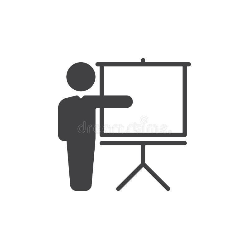 Het vector, gevulde vlakke teken van het opleidingspictogram, stevig pictogram dat op wit wordt geïsoleerd Symbool, embleemillust royalty-vrije illustratie