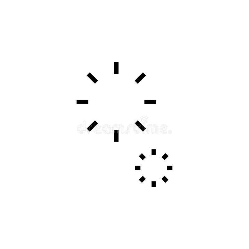 Het vector, gevulde vlakke teken van het vuurwerkpictogram, stevig pictogram dat op wit, embleemillustratie wordt geïsoleerd royalty-vrije illustratie