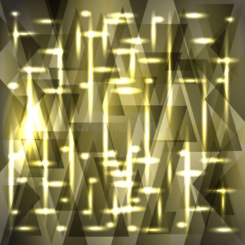 Het vector glanzende gevoelige patroon van de askleur van scherven en strepen stock illustratie