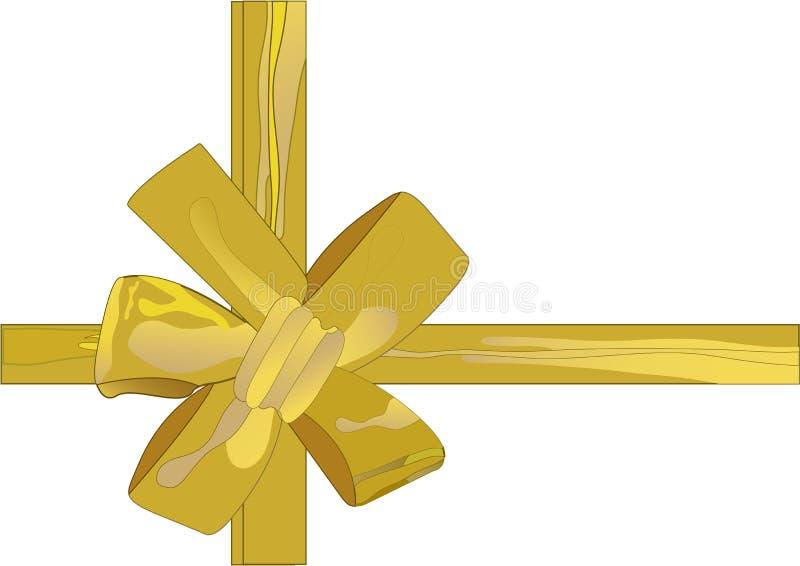 Het vector gouden lint van illustratieKerstmis (backg stock fotografie