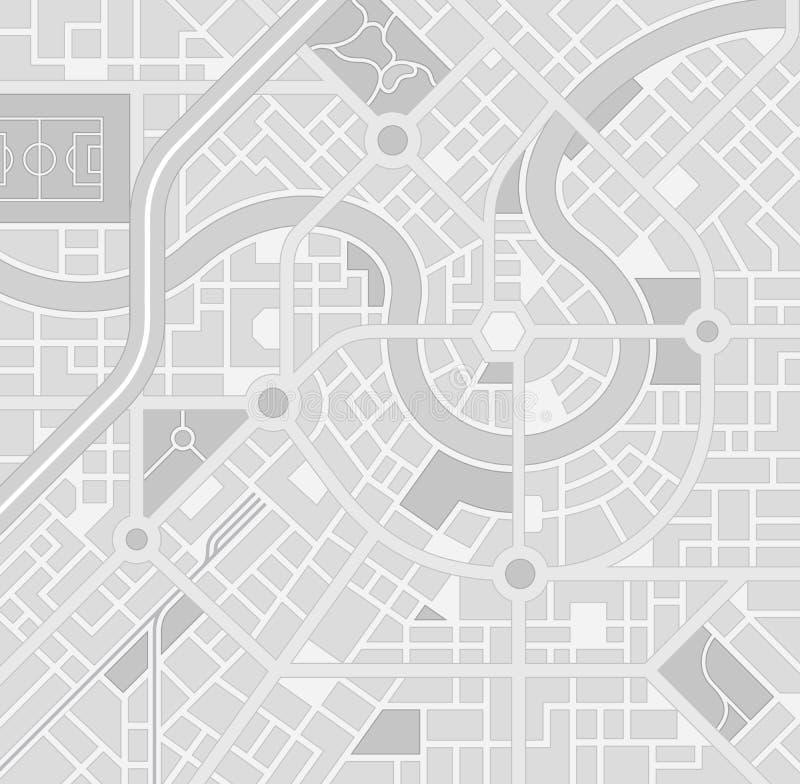 Het vector Greyscale patroon van de Stadskaart vector illustratie