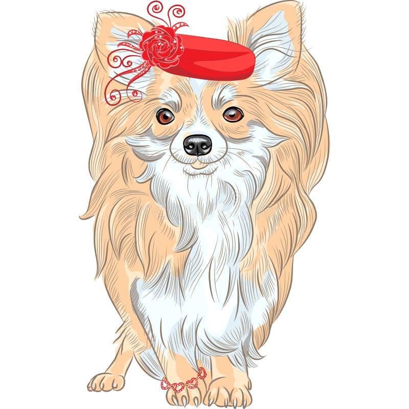 Het vector het ras van Chihuahua van de manierhond glimlachen vector illustratie