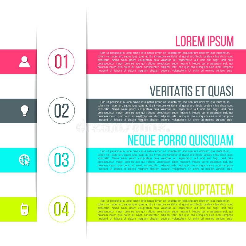 Het vector infographic malplaatje van bedrijfsprocesstappen stock illustratie