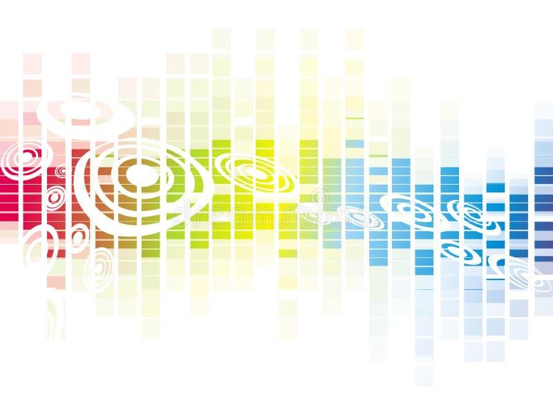 Het vector kleurrijke ontwerp van het mozaïekpatroon royalty-vrije illustratie