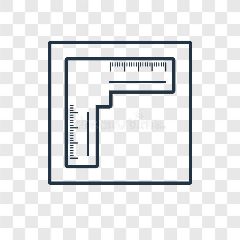 Het vector lineaire die pictogram van het heersersconcept op transparante backgro wordt geïsoleerd stock illustratie