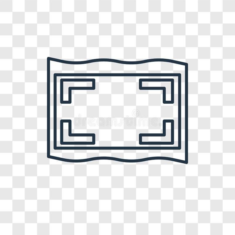 Het vector lineaire die pictogram van het kaderconcept op transparante backgro wordt geïsoleerd royalty-vrije illustratie