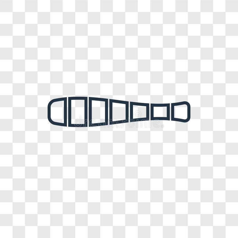 Het vector lineaire die pictogram van het ladingsconcept op transparante backg wordt geïsoleerd vector illustratie
