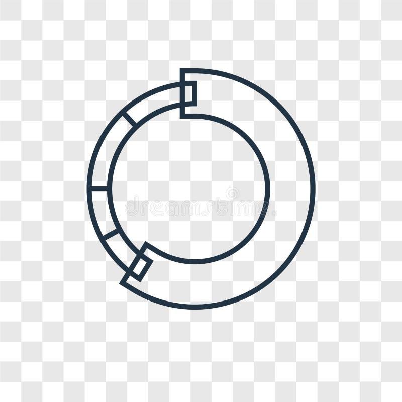 Het vector lineaire die pictogram van het ladingsconcept op transparante backg wordt geïsoleerd stock illustratie