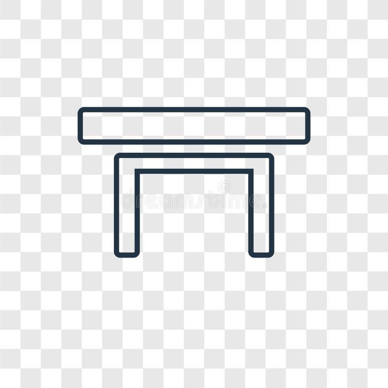 Het vector lineaire die pictogram van het lijstconcept op transparante backgro wordt geïsoleerd royalty-vrije illustratie