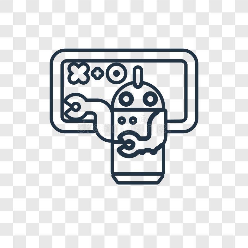 Het vector lineaire die pictogram van het het onderwijsconcept op transparante rug wordt geïsoleerd vector illustratie