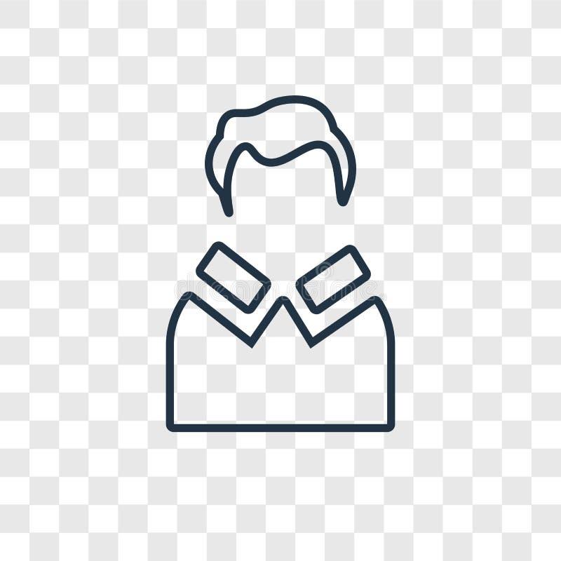 Het vector lineaire pictogram van het leraarsconcept op transparante backg royalty-vrije illustratie