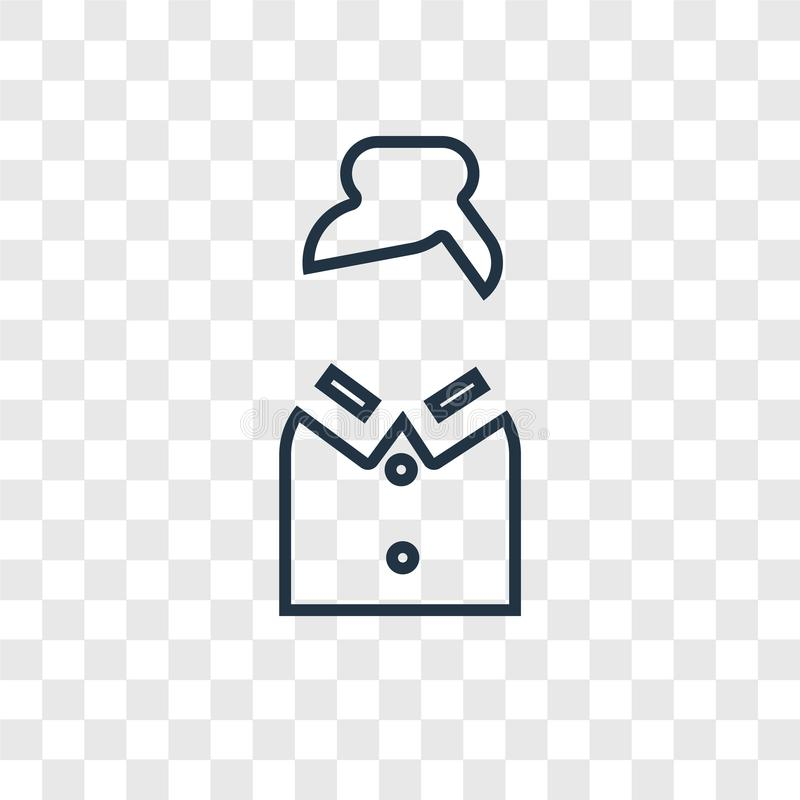 Het vector lineaire pictogram van het leraarsconcept op transparante backg stock illustratie