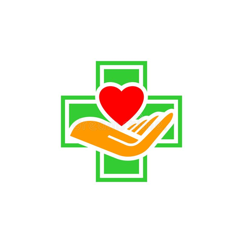 Het vector medische symbool van het gezondheidshart vector illustratie