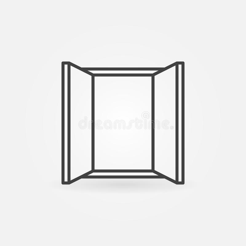 Het vector minimale pictogram van het vensterconcept in dunne lijnstijl royalty-vrije illustratie