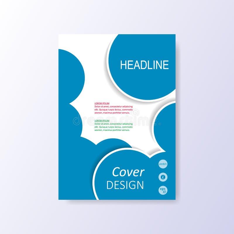 Het vector moderne blauwe malplaatje van het brochureontwerp royalty-vrije illustratie