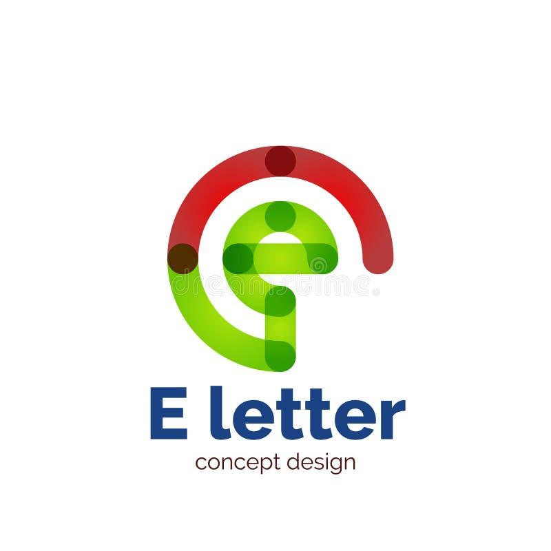 Het vector moderne minimalistic embleem van het brievenconcept royalty-vrije illustratie