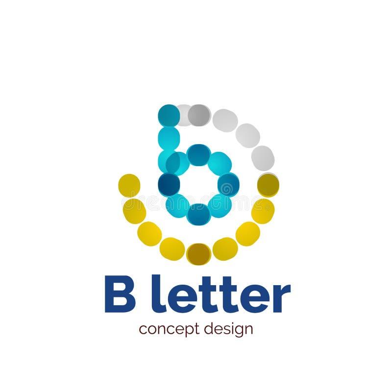 Het vector moderne minimalistic gestippelde embleem van het brievenconcept vector illustratie