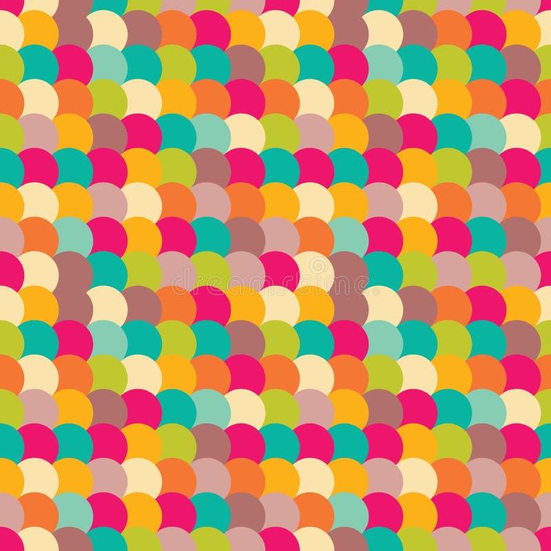 het vector moderne naadloze kleurrijke oostelijke patroon van de eierenmeetkunde Kleuren abstracte geometrische achtergrond royalty-vrije illustratie