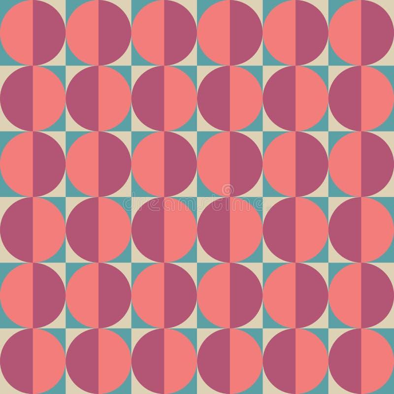Het vector moderne naadloze kleurrijke patroon van de meetkundecirkel, kleuren abstracte geometrische achtergrond royalty-vrije illustratie