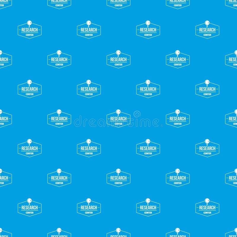Het vector naadloze blauw van het onderzoekscentrumpatroon royalty-vrije illustratie