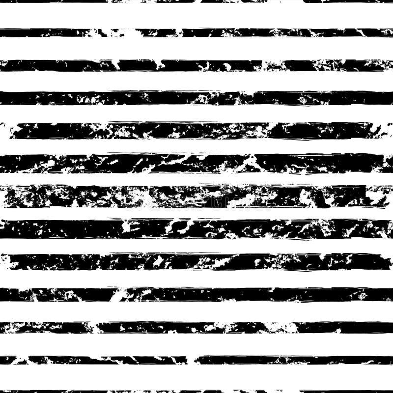 Het vector naadloze geklets van waterverf verschillende met maat strepen grunge royalty-vrije illustratie