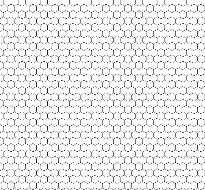 Het vector Naadloze Hexagon Patroon van Minimalistic, de Achtergrond van Overzichtshoningraten royalty-vrije illustratie