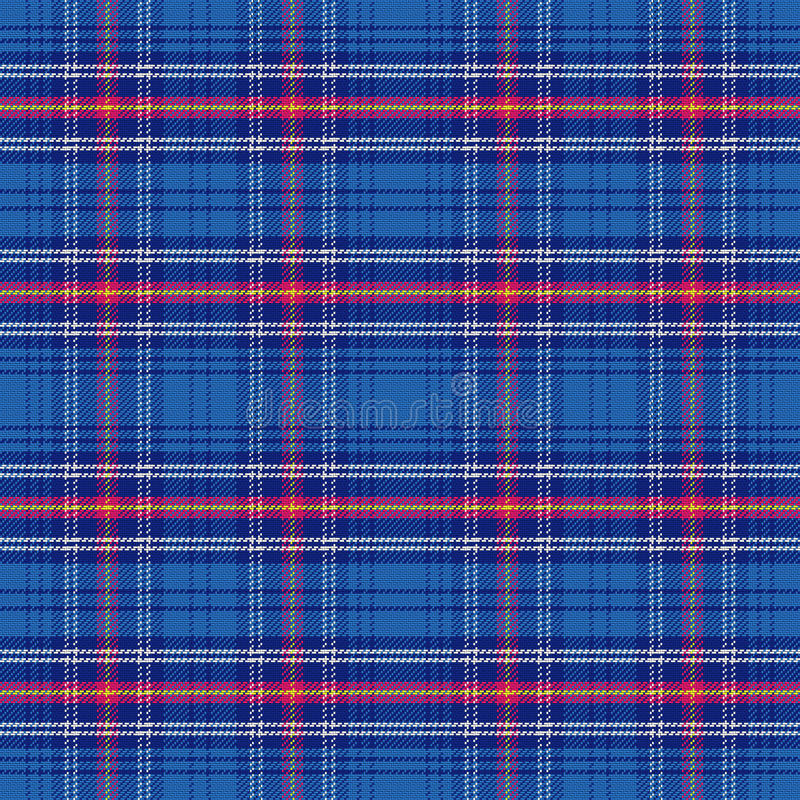 Het vector naadloze Leger van het patroon Schotse geruite Schots wollen stof vector illustratie