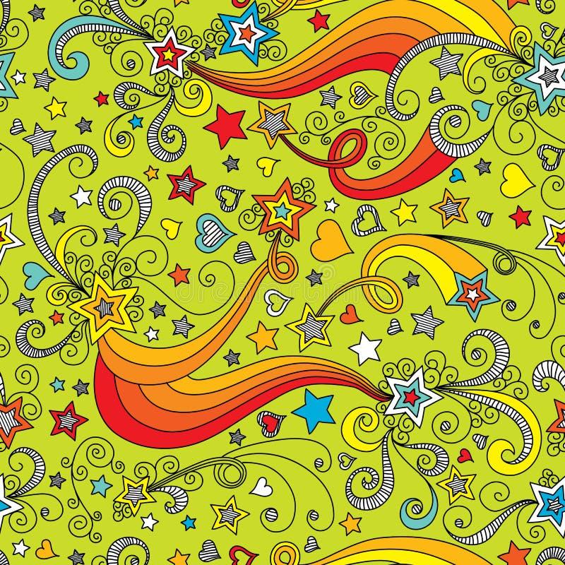 Het vector naadloze patroon van de kleurenster vector illustratie