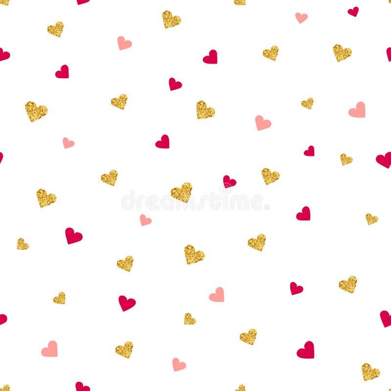 Het vector naadloze patroon van de Valentijnskaartendag vector illustratie
