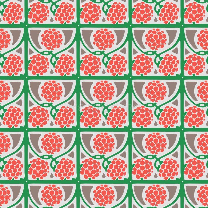Het vector naadloze Patroon van Scute met gekleurde Bladeren en bessen royalty-vrije stock fotografie