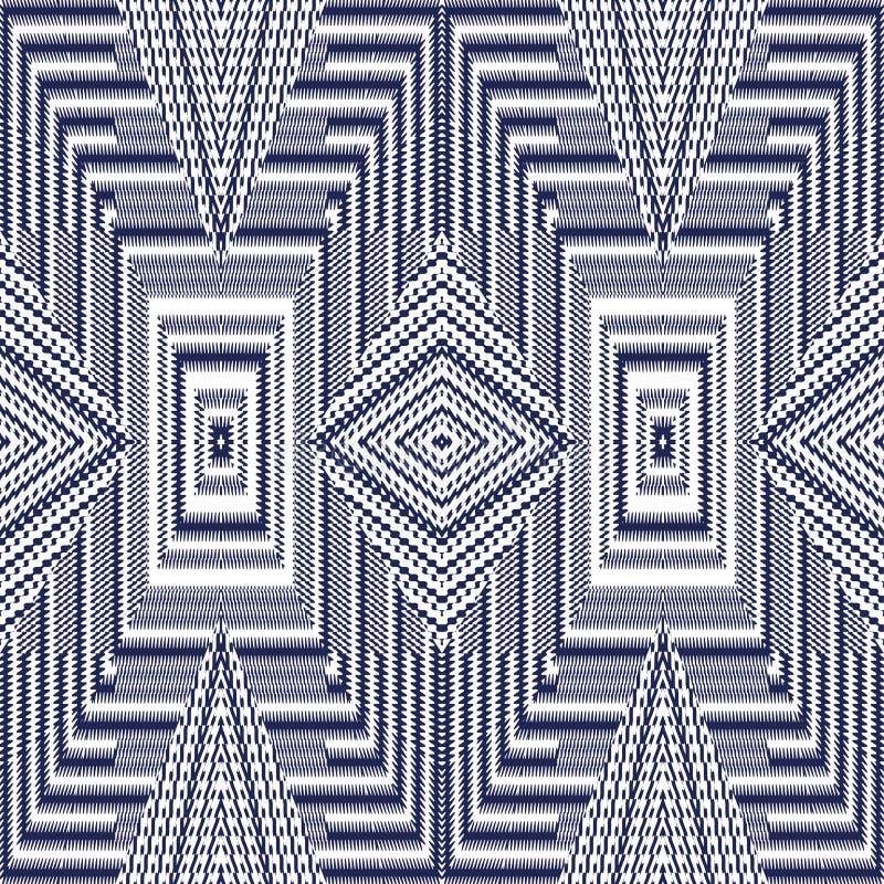 Het vector naadloze patroon, vat geometrische illustratie samen als achtergrond stock afbeelding