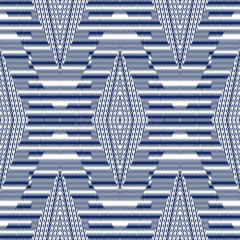 Het vector naadloze patroon, vat geometrische illustratie samen als achtergrond royalty-vrije stock afbeelding