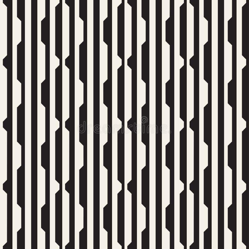 Het vector naadloze zwart-witte halftone patroon van het lijnennet Abstract geometrisch Ontwerp als achtergrond stock illustratie