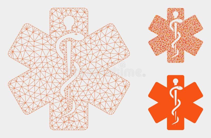 Het Vector het Netwerk 2D Model van de het levensster en Pictogram van het Driehoeksmozaïek royalty-vrije illustratie