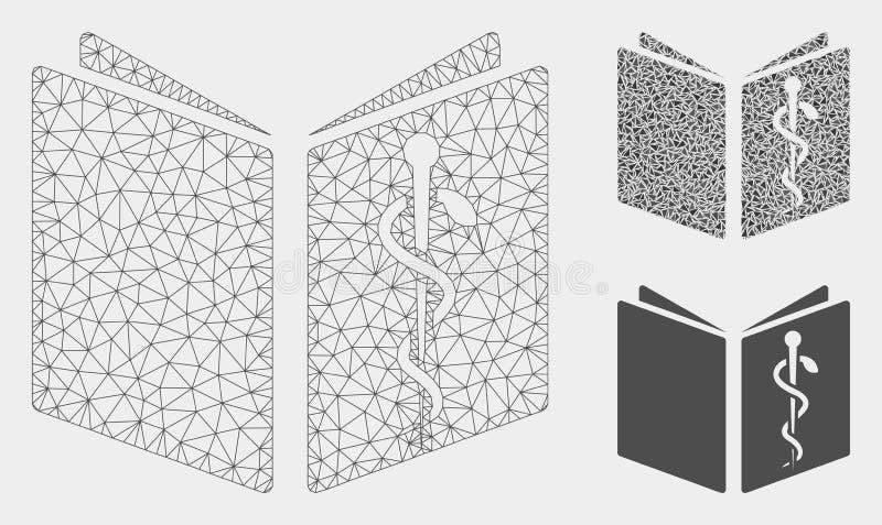 Het Vector het Netwerk 2D Model van het gezondheidszorgboek en Pictogram van het Driehoeksmozaïek royalty-vrije illustratie