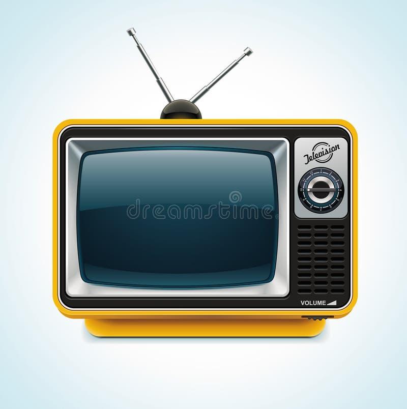 Het vector retro pictogram van TV XXL stock illustratie