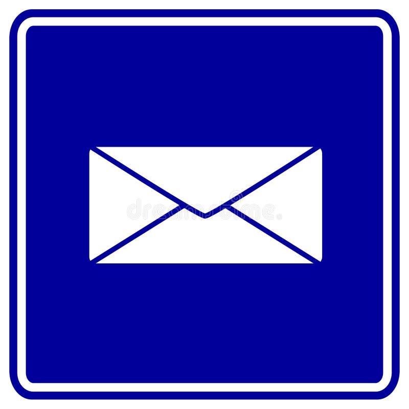 Het vector teken van de postenvelop stock illustratie