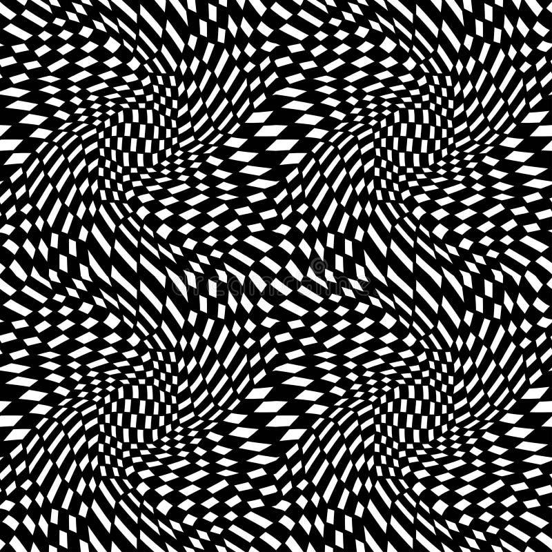 Het vector trippy patroon van de hipster abstracte meetkunde met 3d illusie royalty-vrije illustratie