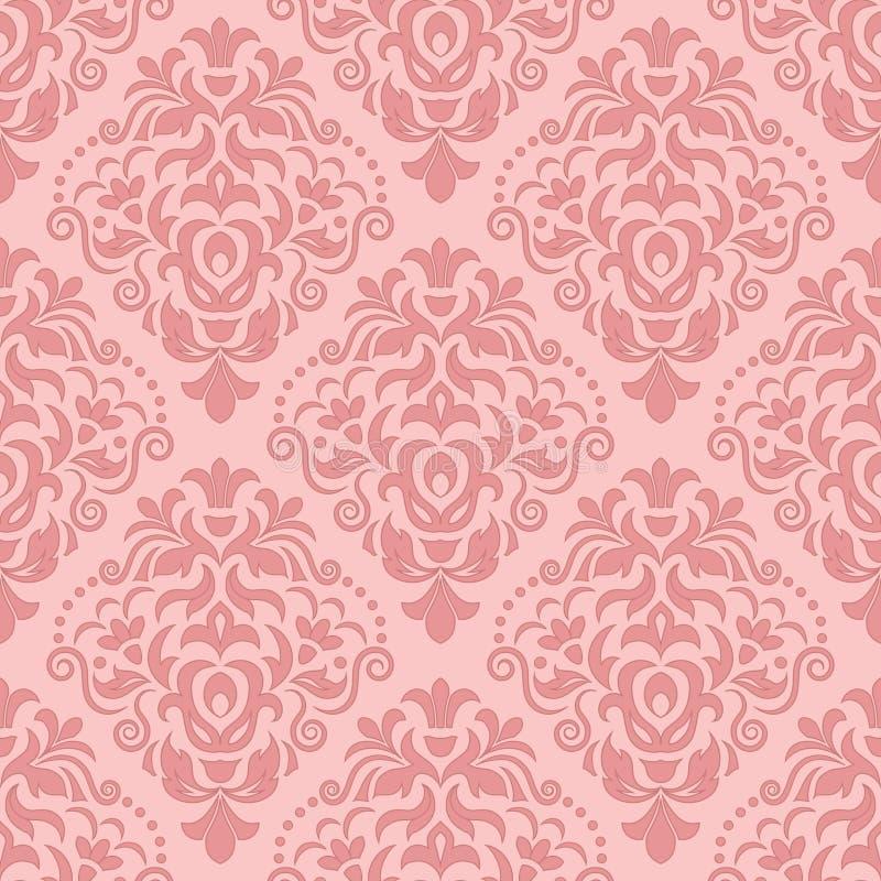 Het vector uitstekende element van het damast naadloze patroon stock illustratie