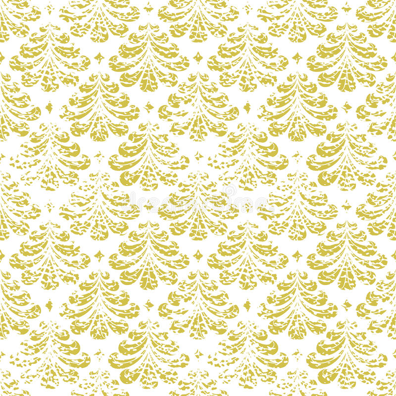 Het vector uitstekende element van het damast naadloze patroon vector illustratie
