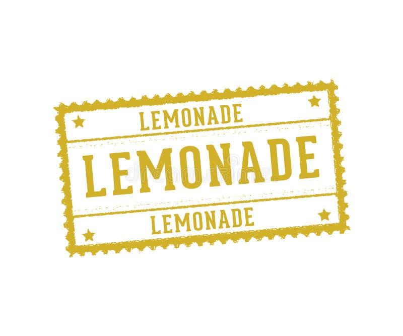 Het vector van de etiketmarkering en zegel ontwerp voor limonade drinkt drank en citroensap vector illustratie
