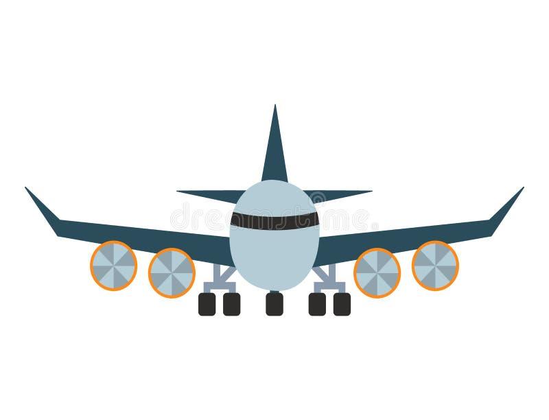 Het vector van het de vliegtuigenvervoer van de vliegtuigillustratie van de de reismanier voorwerp van de het ontwerpreis stock illustratie