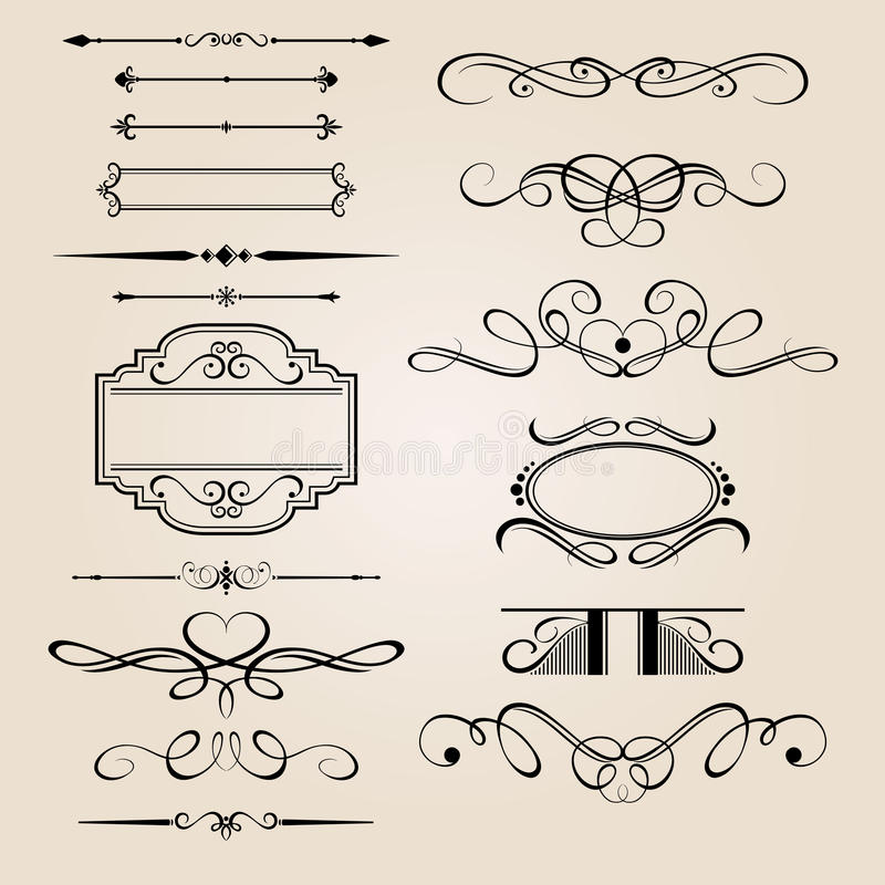 Het vector Vastgestelde Element van het Ontwerp van de Grens stock illustratie